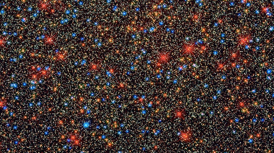 We begin here with a LOT of cosmic dots -- about 100,000 of them. Hubble Space Telescope snapped this 2009 image of a panoram