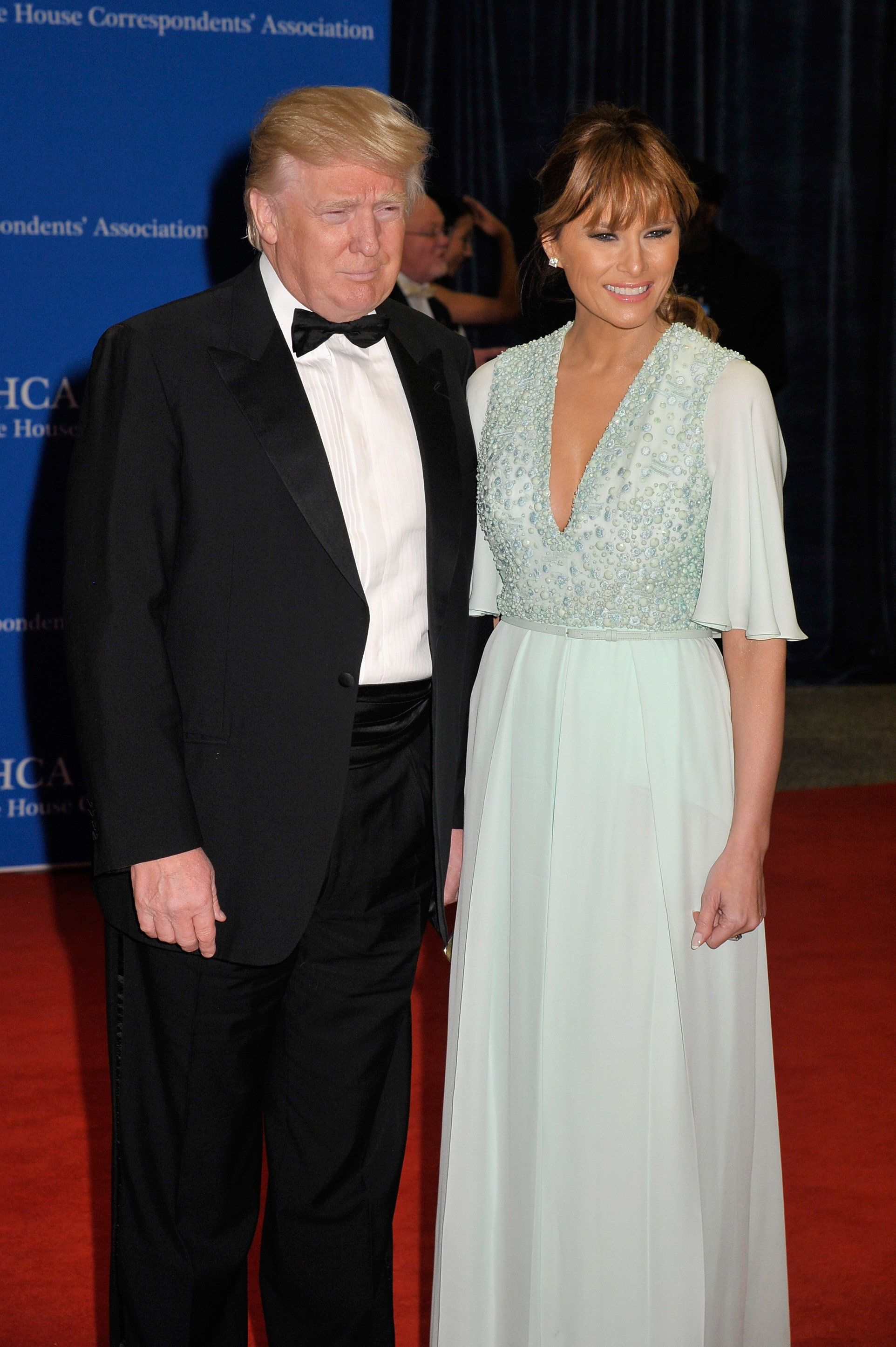 WASHINGTON, DC - APRIL 25:  Donald Trump and Melania Trump attend the 101st Annual White House Correspondents' Association Dinner at the Washington Hilton on April 25, 2015 in Washington, DC.  (Photo by Kris Connor/FilmMagic)