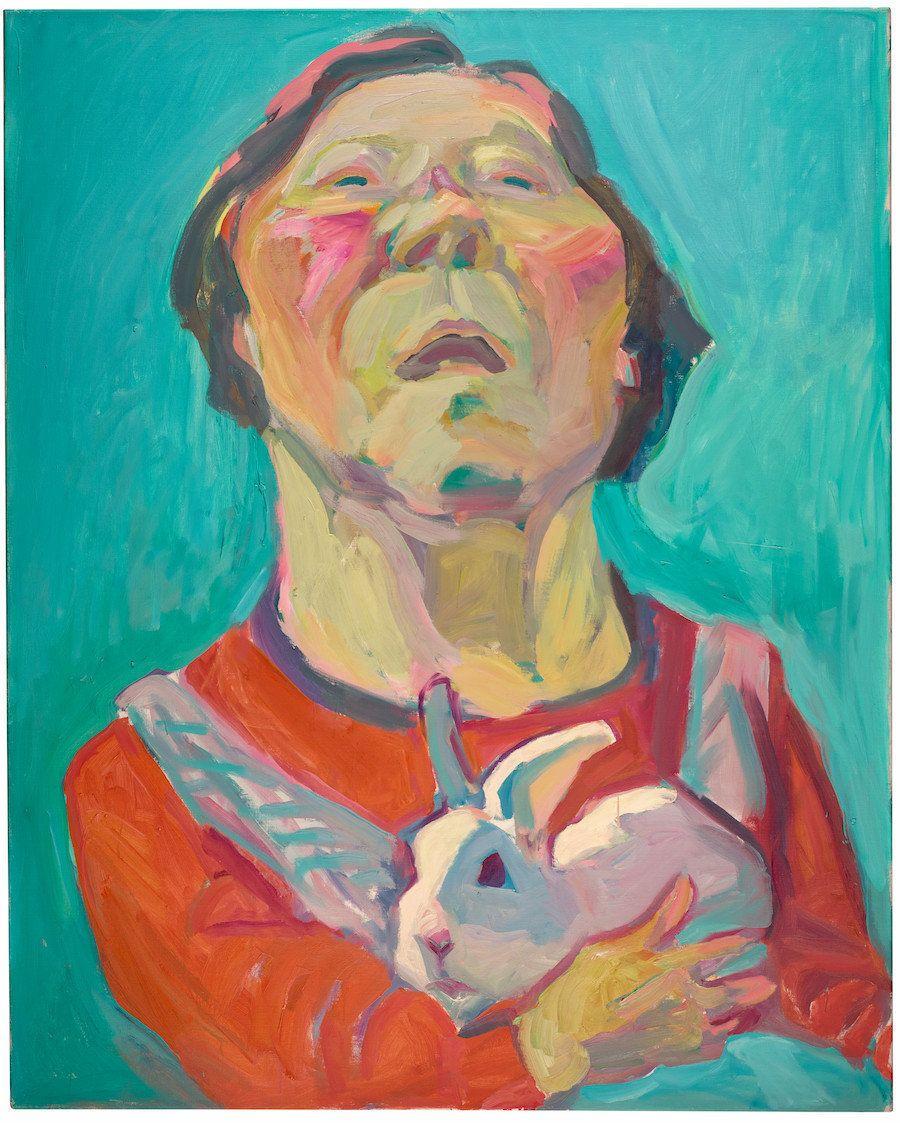 """Maria Lassnig, """"Le Jeu du Destin,"""" 1999"""