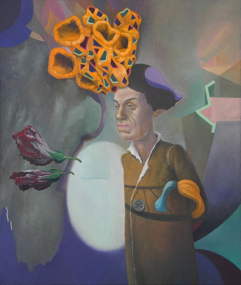 D. Dominick Lombardi, <em>Son of Man</em> (2013), acrylic and oil on canvas 24 x 20 inches