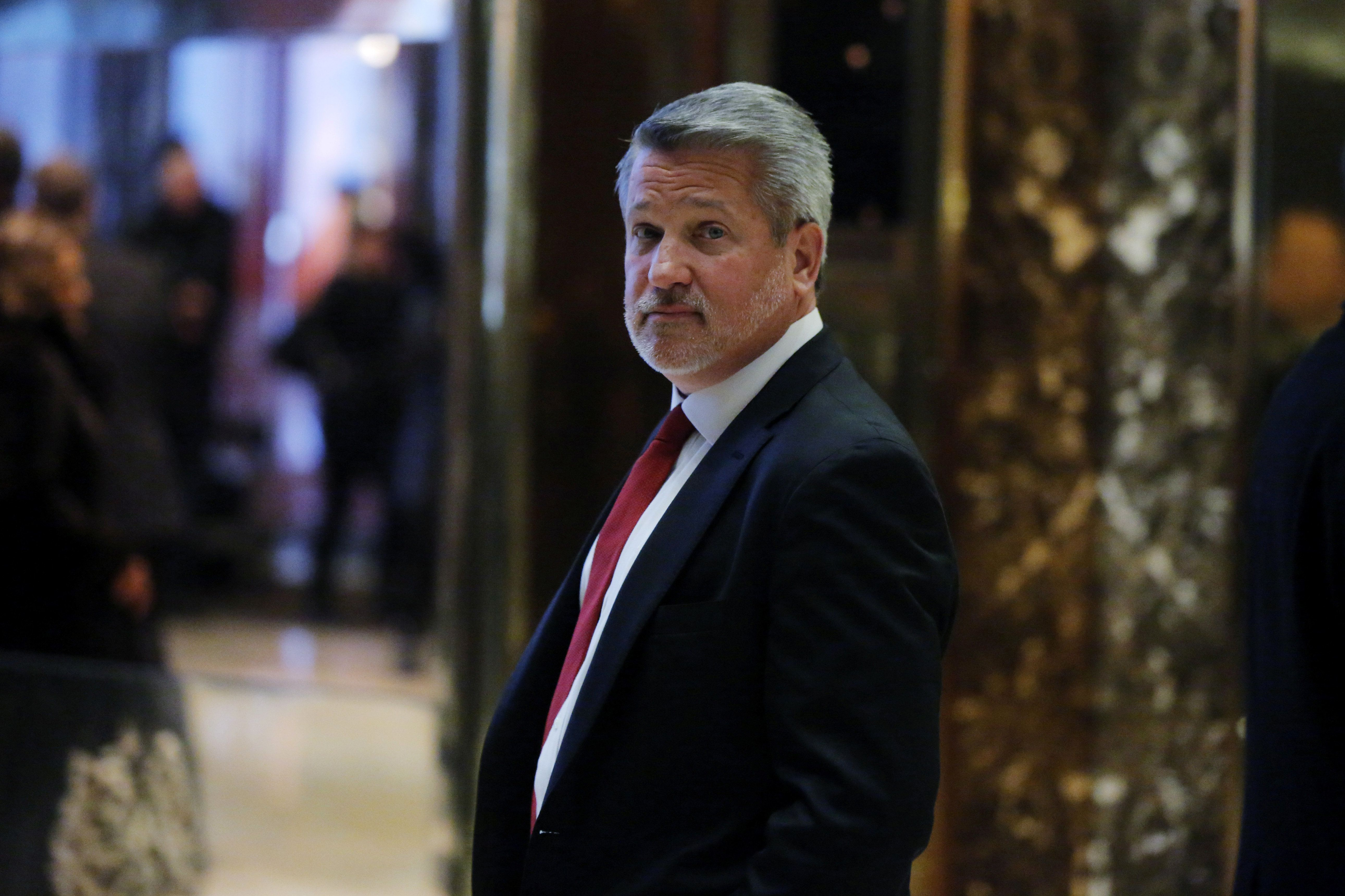 Fox News President Bill Shine departs after meeting with U.S. President-elect Donald Trump at Trump Tower in the Manhattan borough of New York, U.S., November 21, 2016.  REUTERS/Lucas Jackson