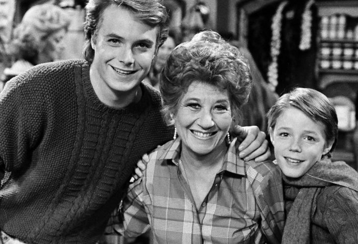 Rae on the set of 'The Facts of Life'