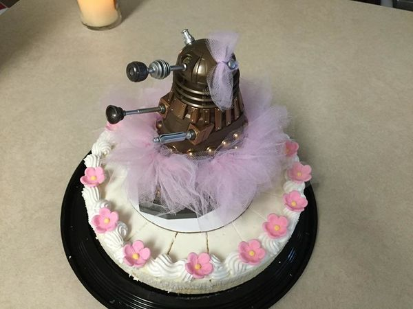 """""""My daughter wanted a ballerina Dalek cake for her fifth birthday. As I was unable to find a ready-made cake topper to fill s"""