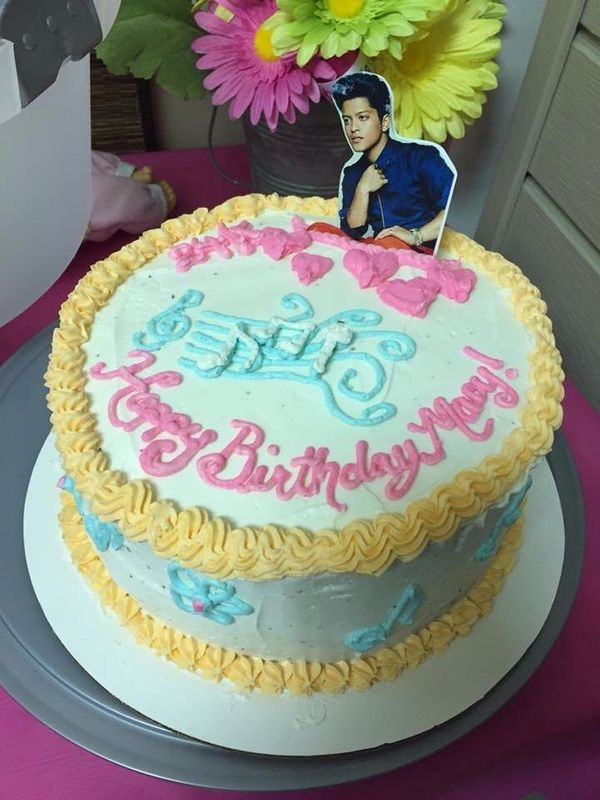 """""""I have twin girls. One wanted a superhero girl cake. The other -- she wanted Bruno Mars on her cake."""" -- Alyson Prevost"""