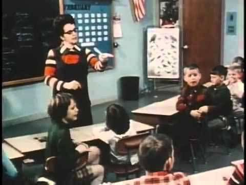 Jane Elliott in her classroom in 1968 when she demonstrated to her third grade students how easy it was to create ingroup ver