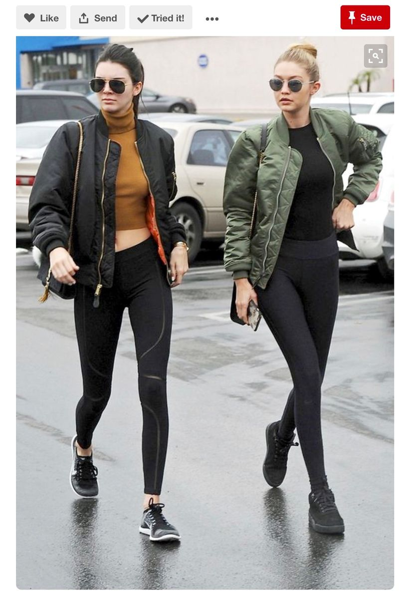 Kendall Jenner & Gigi Hadid were all over Pinterest when spotted rocking this athleisure fashion