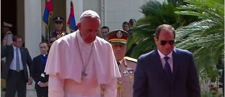 Pope Francis and Egyptian leader Abdul Fattah Al-Sisi