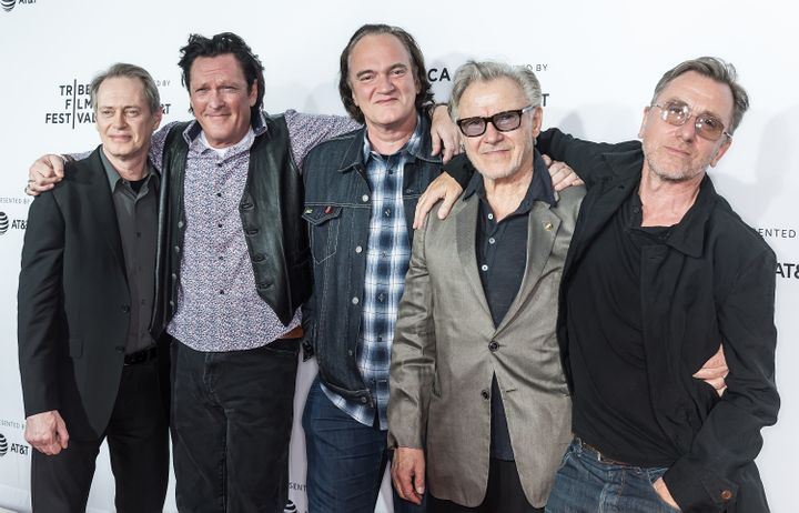"Steve Buscemi, Michael Madsen, Quentin Tarantino, Harvey Keitel and Tim Roth arrive at the ""Reservoir Dogs"" screening."