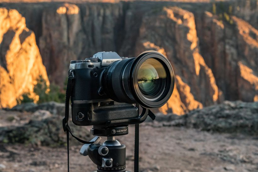 Fujifilm X-T1 set up for timelapse.
