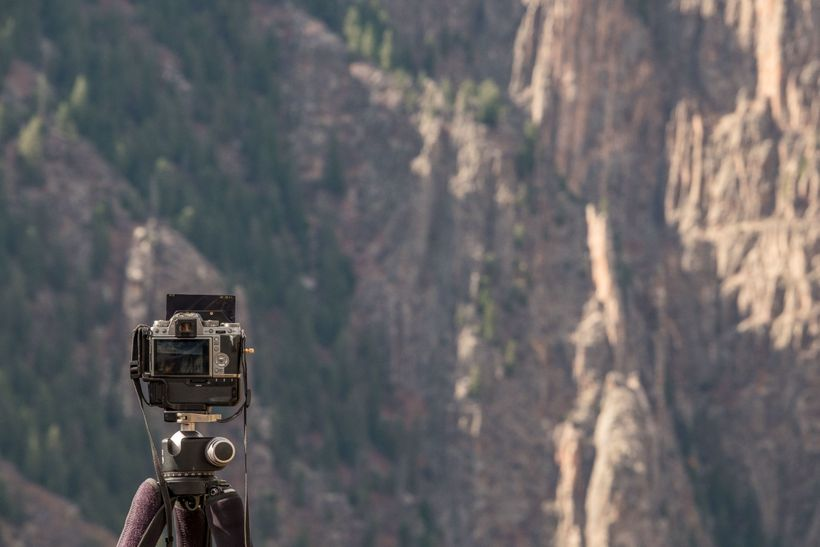 Fujifilm X-T1 set up with a neutral density filter
