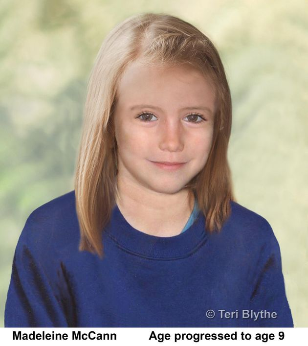 Metropolitan Police undated handout photo of an age progression image of the missing child, Madeleine