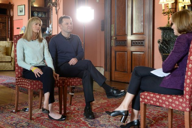 Kate and Gerry McCann during an interview with the BBC's Fiona Bruce at Prestwold Hall in