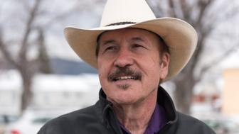 LIVINGSTON, MT - MARCH 10: Montana Democrat Rob Quist campaigns on March 10, 2017 in Livingston, Montana. Quist is campaigning for the House of Representatives seat vacated by newly appointed Interior Secretary Ryan Zinke in a special election that will take place on May 25, 2017. Quist, 69, is a popular singer and songwriter who performed with the Mission Mountain Wood Band. He still tours with the band Rob Quist and the Great Northern. He wrote and performs his own campaign song-'I Will Stand Up for You'. Quist will be running against Republican Greg Gianforte who recently lost his run for governor of Montana. (Photo by William Campbell/Corbis via Getty Images)