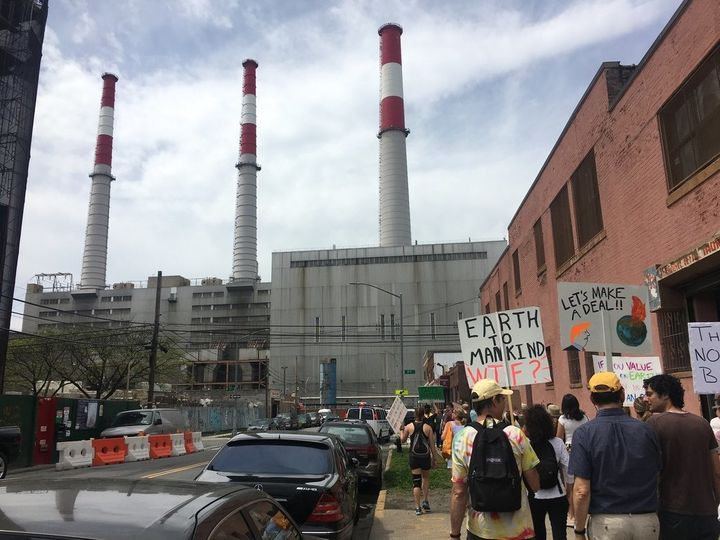 New York City's only official climate march snaked past one of the city's dirtiest power plants.