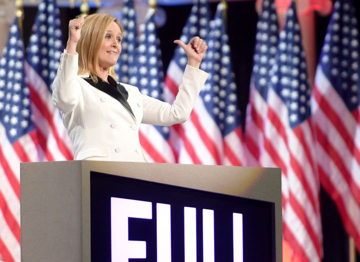 Host Samantha Bee onstage.