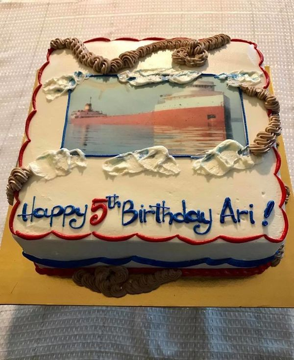 """Our son wanted an Edmund Fitzgerald -- a freighter that sunk in Lake Superior in the '70s -- party for his 5th birthday. Act"