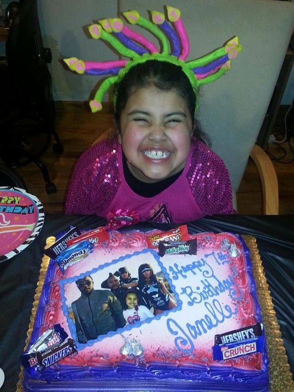 """My then-7-year-old, who is obsessed with the Black Eyed Peas, requested a Black Eyed Peas themed party."" -- Janeth Vill"