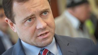 STERLING, VA - MARCH 17:   Virginia Gubernatorial candidate Tom Perriello visits the Loudoun County mosque in response to the courts blocking President Trump's muslim ban in Sterling, VA on March 17, 2017.  Perriello visited the ADAMS Center in Loudoun County to show solidarity with Muslim Americans and emphasize his commitment to protecting their rights.   ADAMS center is one of the largest muslim organizations that provides not only religious support but social services including a free medical center which provides free services no matter what your race, religioun or orientation.  ADAMS  is an acronym for All Dulles Area Muslim Society.  (Photo by Linda Davidson/The Washington Post via Getty Images)