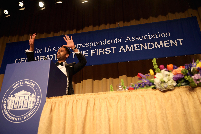 Comedian Hasan Minhaj hosted this yearWhite House Correspondents' Association