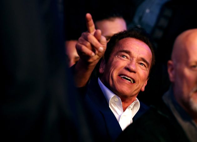 Arnie joined the 90,000-strong crowd at Wembley to see a home-grown victory for Anthony
