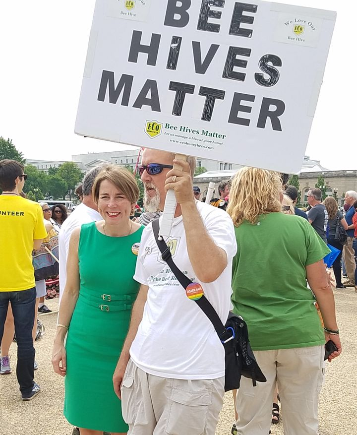 Massachusetts Attorney General Maura Healey at Peoples Climate March, Washington, D.C., April 29, 2017.