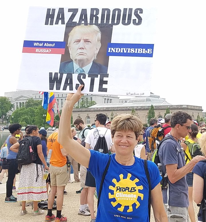 Suzanne Stern of Williamsburg, Virginia at the Peoples Climate March in D.C., April 29, 2017