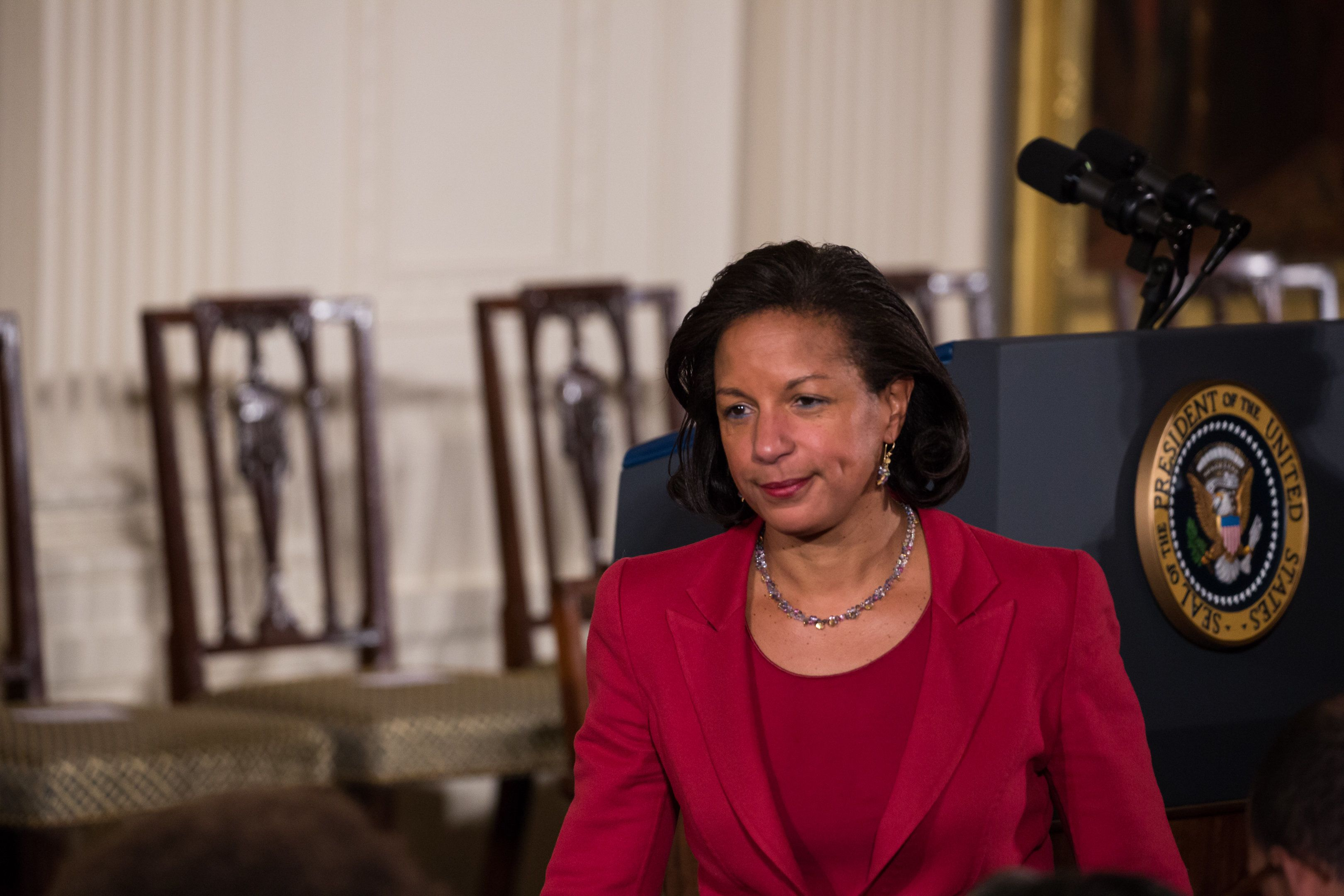 Ambassador Susan E. Rice, President Barack Obama's National Security Advisor, was a guest at the Presidential Medal of Freedom ceremony. (Photo by Cheriss May/NurPhoto via Getty Images)