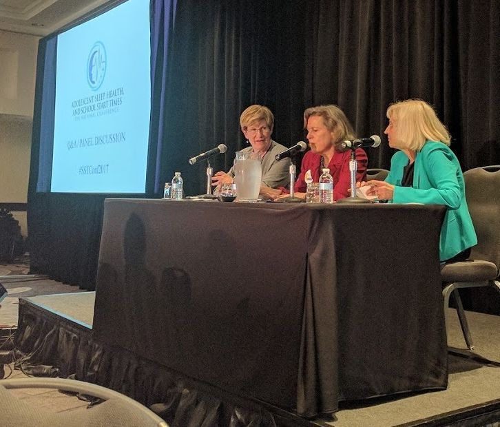 Health, education, and advocacy unite as Drs Kyla Wahlstrom, Terra Ziporyn Snider, and Judith Owens field questions at the fi