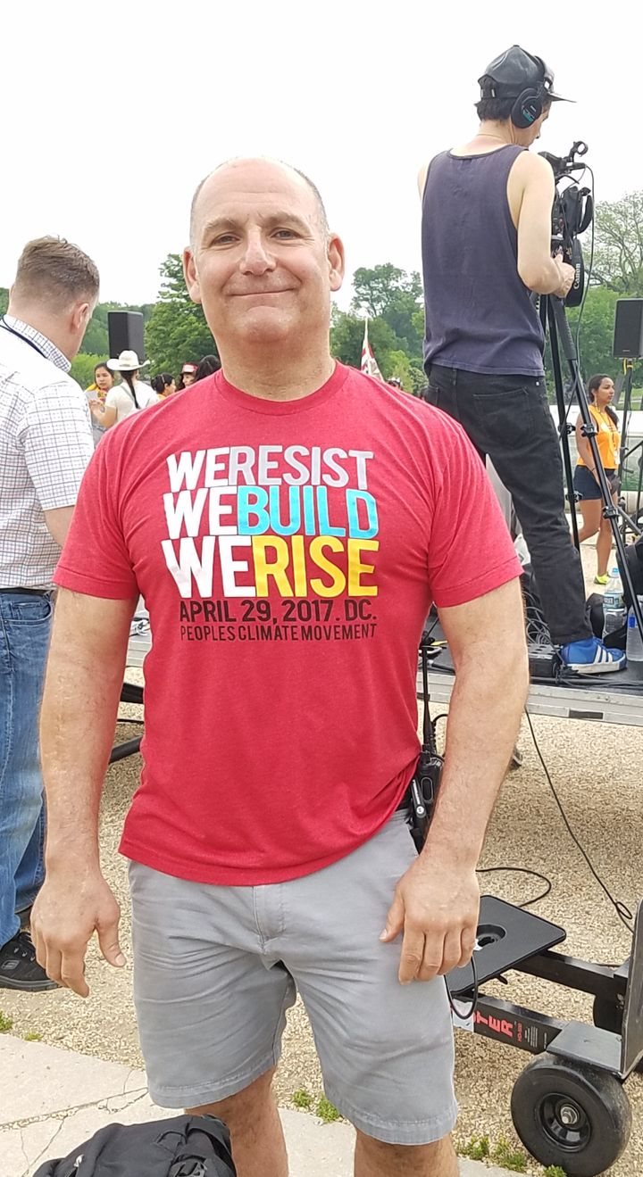 Paul Getsos, National Coordinator for the Peoples Climate Movement, at the Peoples Climate March in D.C.