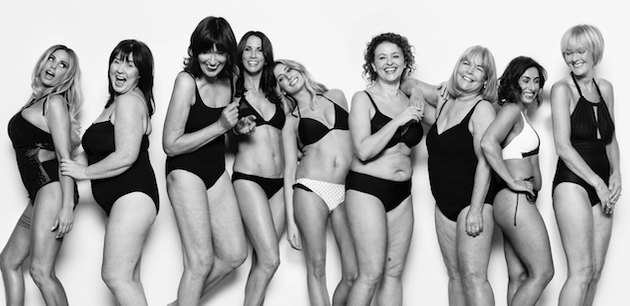 The 'Loose Women' team strip off to promote body