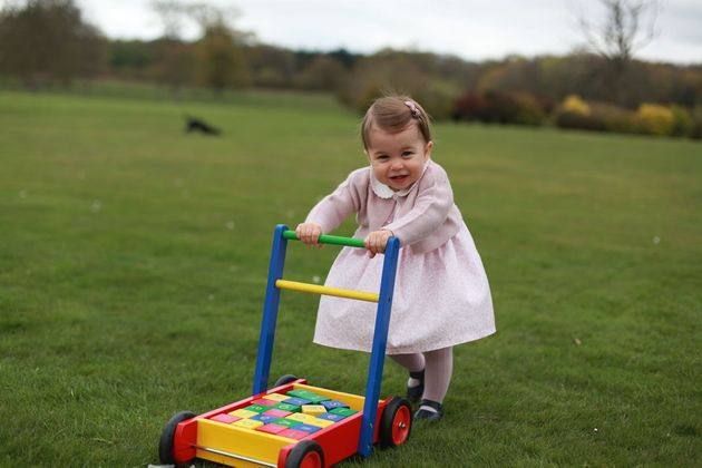 Princess Charlotte pictured at Anmer Hall ahead of her first