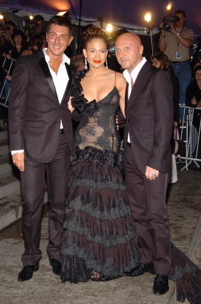 Jennifer Lopez with Dolce and Gabbana wearing (you guessed it) D&G, 2004.