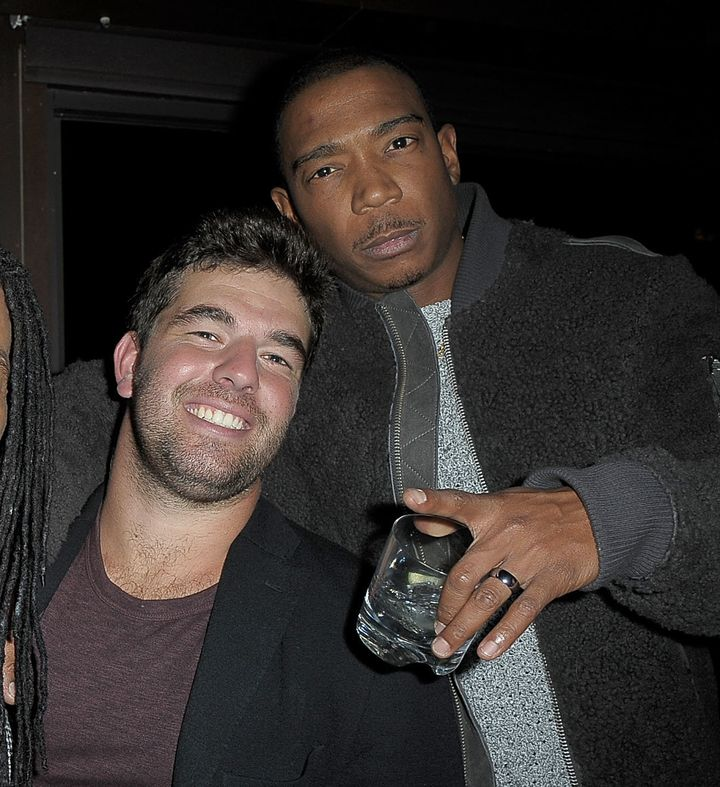 Fyre Festival organizers Billy McFarland and Ja Rule pose together at PHD Terrace Dream Midtown on December 14, 2016 in New York City.