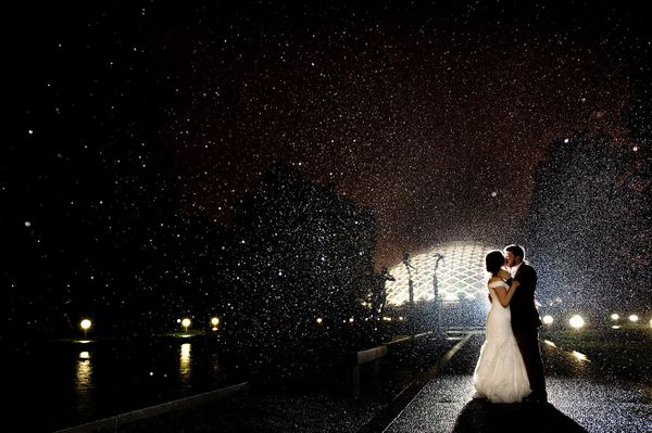 """Myra andDavid literally danced in the rain on their wedding day!"" --<i>Ashley Fisher</i>"