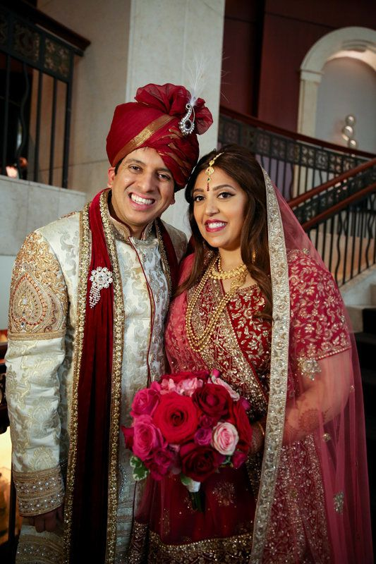 """On Saturday, Arvin and Shivani got married at InterContinental Chicago Magnificent Mile! Congrats, newlyweds."" -- <i>Ne"