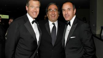 NEW YORK CITY, NY - MAY 8: (L-R) Brian Williams, Andy Lack and Matt Lauer attend TIME Magazine's 100 Most Influential People 2007 at Jazz at Lincoln Center on May 8, 2007 in New York City. (Photo by PATRICK MCMULLAN/Patrick McMullan via Getty Images)