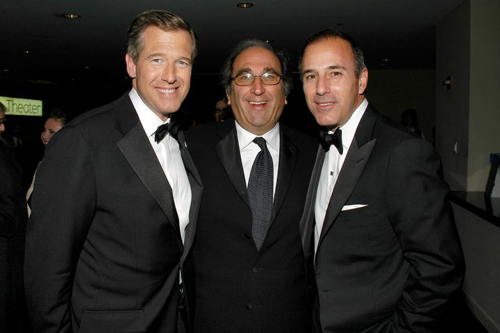 From left to right, in 2007: Brian Williams, Andy Lack, Matt Lauer. Not pictured: non-white people.