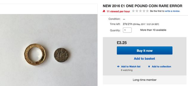 New Pound Coins With Loose Middles Appear To Be Posted On Ebay