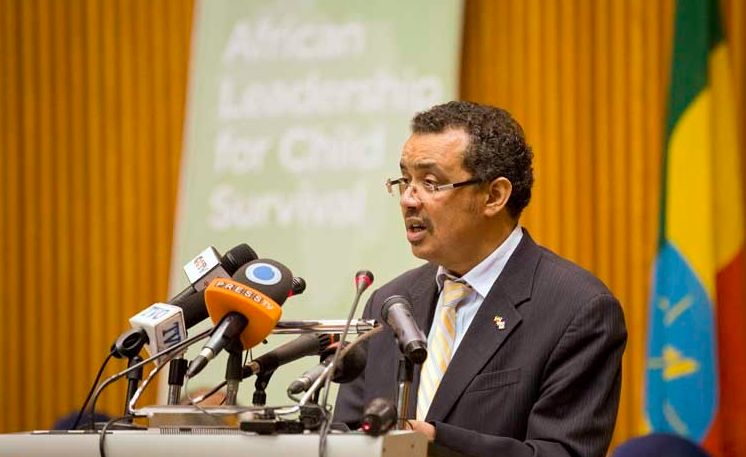 Dr. Tedros Adhanom opens the African Leadership for Child Survival meeting in Addis Ababa, Ethiopia.