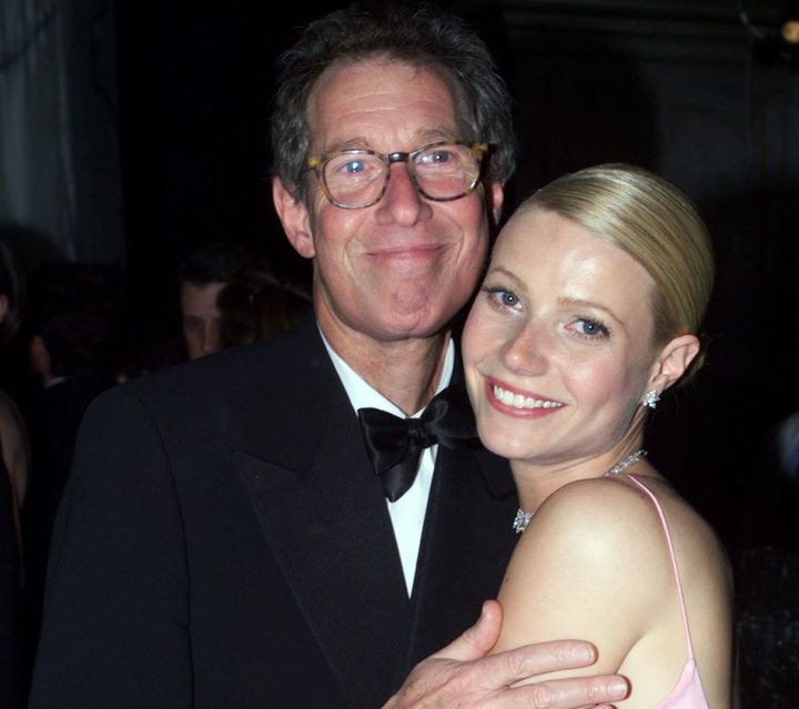 Bruce Paltrow hugs daughter Gwyneth at the Governor's Ball following the 71st annual Academy Awards in 1999.