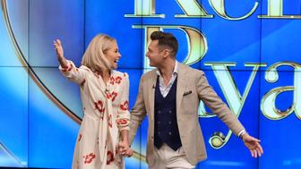 "LIVE WITH KELLY AND RYAN - Monday, May 1, 2017 – A new era in daytime television began today when Kelly Ripa introduced the permanent co-host joining her on the top-rated, Emmy-winning ""Live"" franchise: Ryan Seacrest is the new co-host of the newly-rechristened ""Live with Kelly and Ryan.""