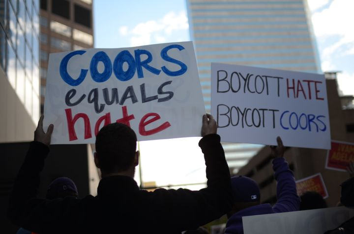 Protesters in Denver marched to the doorstep of a major beer company.