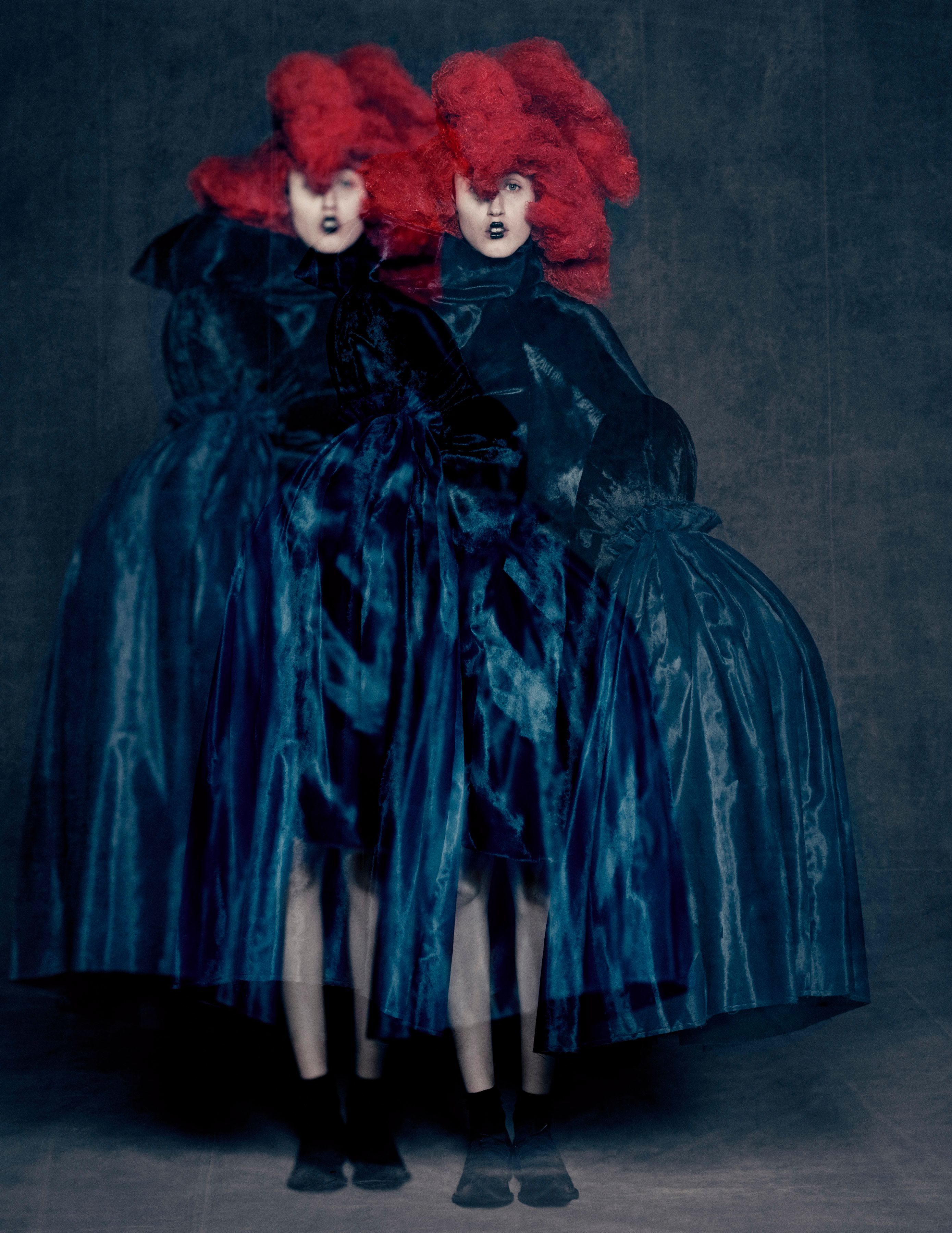 "Rei Kawakubo for Comme des Garçons, ""Blue Witch,"" spring/summer 2016."