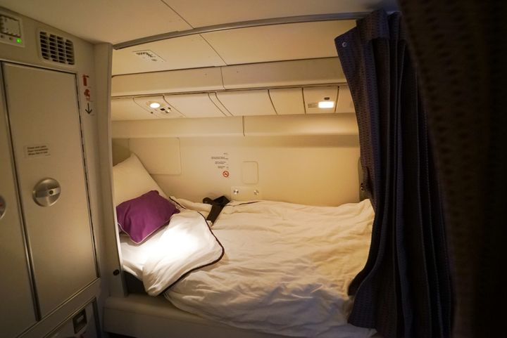 "Crew can <a href=""https://blog.virginaustralia.com/our-people/do-our-crew-sleep-long-haul-flights"" target=""_blank"">change int"