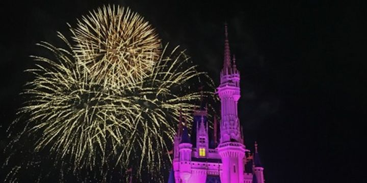 Disney at night!