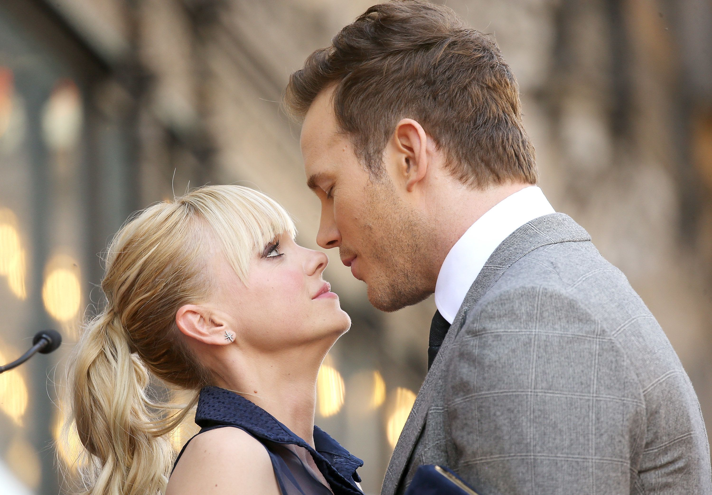 HOLLYWOOD, CA - APRIL 21:  Anna Faris and Chris Pratt attend the ceremony honoring Chris Pratt with a Star on The Hollywood Walk of Fame held on April 21, 2017 in Hollywood, California.  (Photo by Michael Tran/FilmMagic)