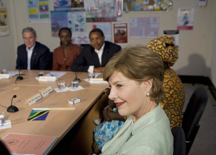 Laura Bush was an avid supporter of the PEPFAR AIDS program, which President Obama's administration continued and expanded.