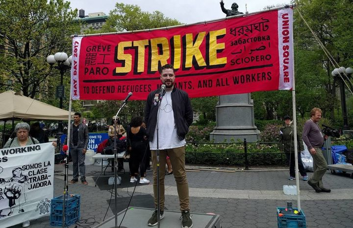 The May Day rally in Union Square.