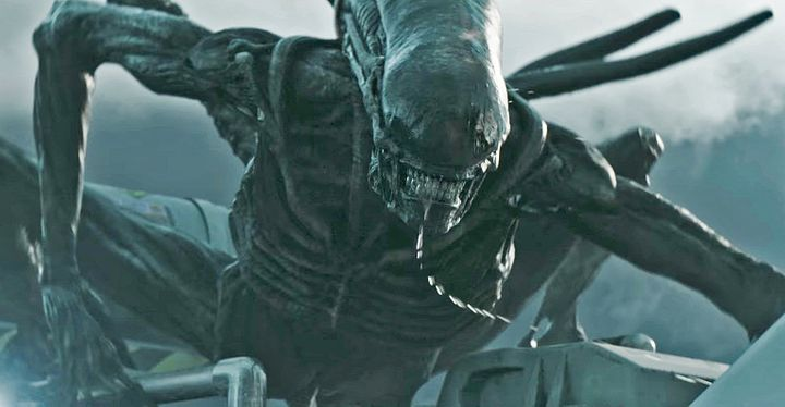 Director ridley scott says there are real aliens out there huffpost a mean looking alien on the attack in ridley scottrsquos upcoming prequel ldquo thecheapjerseys Choice Image