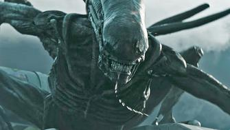 An alien on the attack in Ridley Scotts upcoming prequel Alien: Covenant